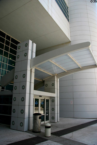 Entrance of Ronald J. Norick Downtown Library. Oklahoma City, OK.