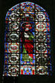 Ambulatory stained glass windows of Saints in Cathedral St. Étienne. Auxerre, France.