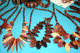 Wooden beads at Sainte-Anne Centre Artisanale. Sainte-Anne, Guadeloupe