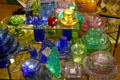 Colored glass in shop in Old Sacramento. Sacramento, CA
