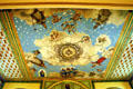 Ceiling fresco with Bishop saints in Santa Clara de Asis Mission. San Jose, CA.
