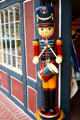 Wooden toy soldier with drum. Solvang, CA.
