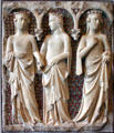 Marble & mosaic tomb relief of three princesses by Tino di Camaino of Siena in Yale Art Gallery. New Haven, CT
