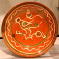 Earthenware pie plate from PA at Yale University Art Gallery. New Haven, CT