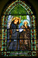 Angel & Saint stained glass windows by Louis Comfort Tiffany & Edward Burne-Jones in Second Presbyterian Church. Chicago, IL.