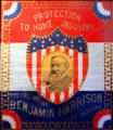 Benjamin Harrison Protection to Home Industries campaign poster at Benjamin Harrison Presidential Site. Indianapolis, IN.