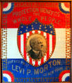 Levi P. Morton Protection Benefits the Whole People campaign poster at Benjamin Harrison Presidential Site. Indianapolis, IN.