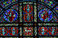 Detail of disciples rose window at Cathedral of Saint Paul. St. Paul, MN.