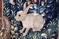 Rabbit detail from the Unicorn Tapestry series made in The Lowlands at The Cloisters. New York, NY