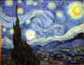 The Starry Night painting by Vincent van Gogh at MoMA. New York, NY