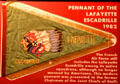 Pennant of Lafayette Escadrille of American pilots who flew for France in WWI at National Museum of USAF. Dayton, OH.