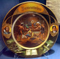 Jamestown Exposition souvenir John Smith & Pocahontas plate at Hampton Roads Naval Museum. Norfolk, VA.