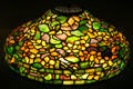 Stained glass Nasturtium lamp shade by Tiffany Studios at Chrysler Museum of Art. Norfolk, VA.