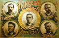 Ringling Bros poster showing five brothers at Circus World Museum. Baraboo, WI.