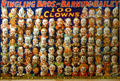 Lithograph of 100 clowns who gathered for congress of clowns at Ringling Bros, Barnum & Bailey Circus at Circus World Museum. Baraboo, WI.